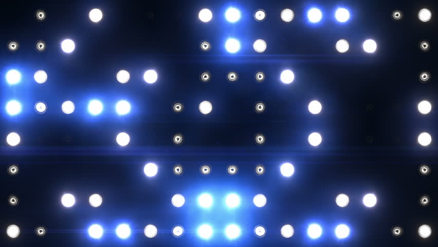 Bright floodlights flashing. Blue. Set of lights turning on and off. SEE MORE OPTIONS IN MY PORTFOLIO. | Shutterstock HD Video #3811100