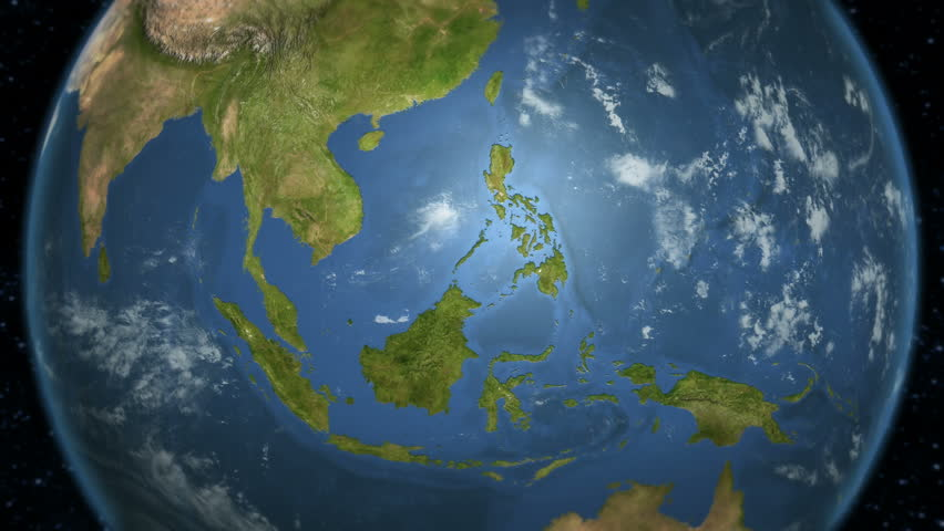 Earth zoom to china available in 4k ultra hd stock footage video loopable spinning earth with south east asia country maps displaying each country border freeze a gumiabroncs Image collections