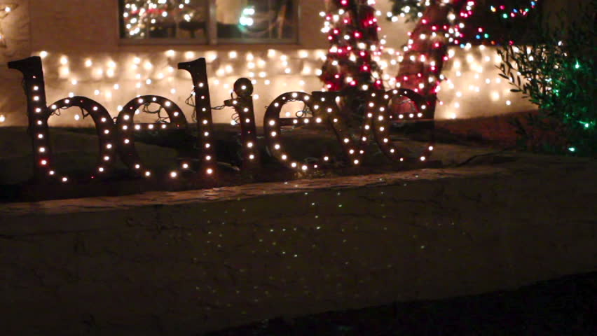 Christmas Lighted Sign.Christmas Twinkling Holiday Light Up Stock Footage Video 100 Royalty Free 3816206 Shutterstock