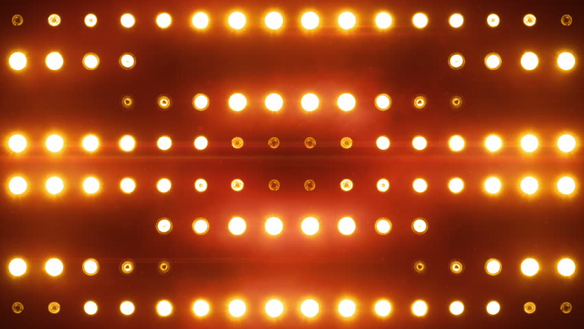 Stadium flood lights background : Bright flood lights background with particles and glow