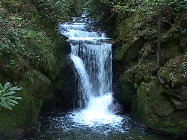 The Geroldsauer waterfall, one of the more famous large waterfalls in the Black Forest, Germany