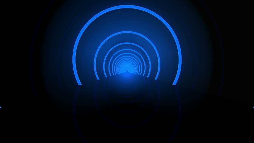 Futuristic Tunnel 3D animation | Shutterstock HD Video #3830936