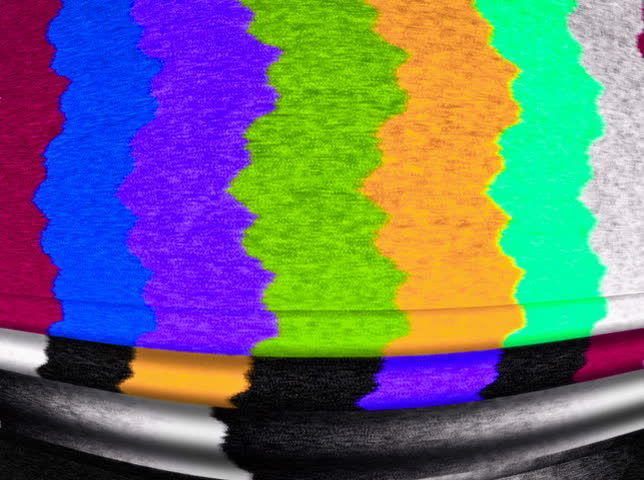 NTSC - Motion 831: TV color bars malfunction with TV noise (Loop).