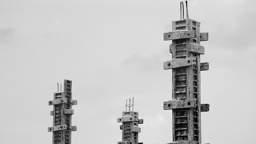 build pillar in construction site