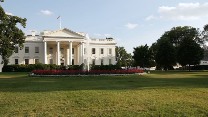 The White House with blue sky