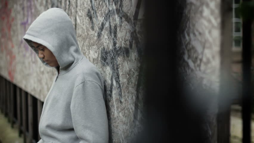 Teenage boy in a hooded top #3850166