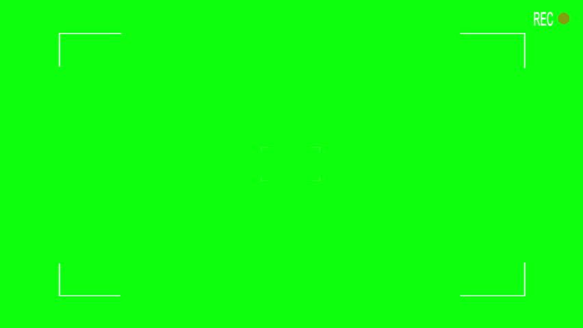 Camera viewfinder  CG 1080p video green screen