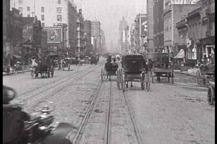 1900s - Fascinating footage of Market Street in San Francisco prior to the great earthquake of 1906.