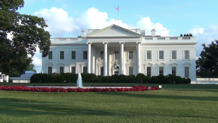 White house zoom out view, Washington DC