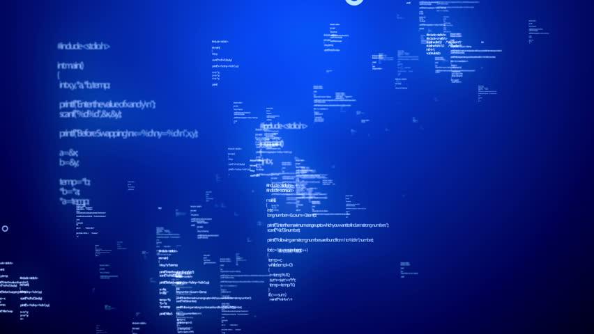 Animation of programming data.   Shutterstock HD Video #3935180