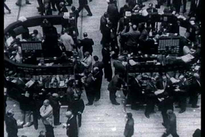 1950s - The New York Stock Exchange trading | Shutterstock HD Video #3942866