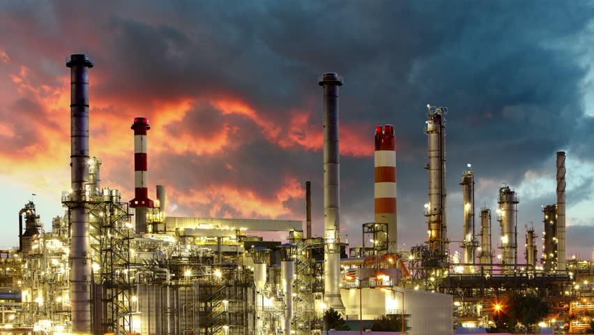 Oil Industry - Refinery plant - time lapse | Shutterstock HD Video #3946895