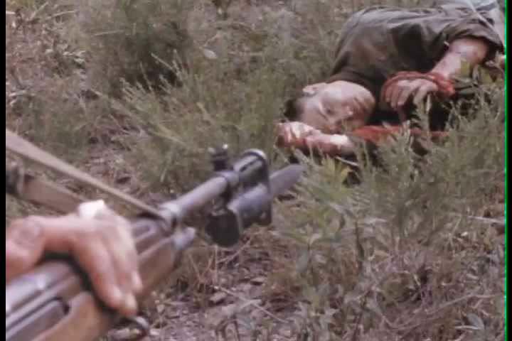 1960s - Marines in combat on the battlefield in Vietnam, 1966.