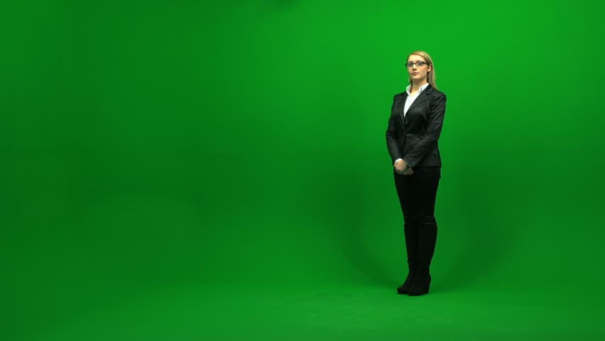 Portrait of business women against green screen 1080 | Shutterstock HD Video #3954353