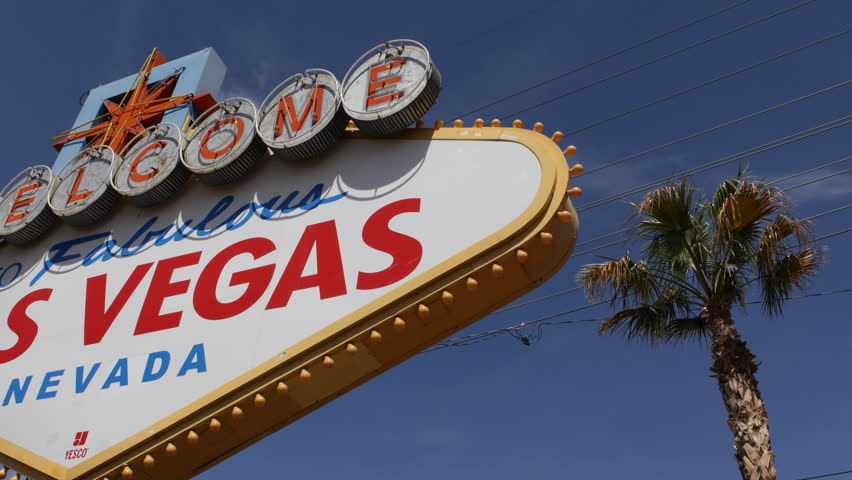 Welcome to Fabulous Las Vegas Nevada Sign, Las Vegas Strip, USA, by day | Shutterstock HD Video #3972613