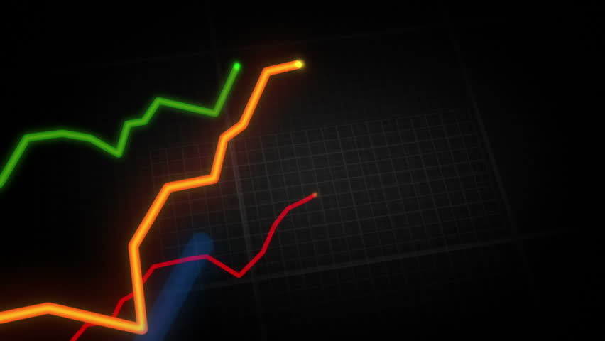 Growing charts. Loopable. Black-White. Without data. Financial figures and diagrams showing increasing profits. NEW 4K IMPROVED VERSION IN MY PORTFOLIO. | Shutterstock HD Video #3991060
