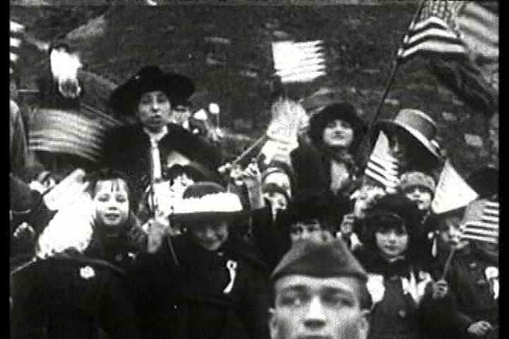 1910s - Woodrow Wilson montage.