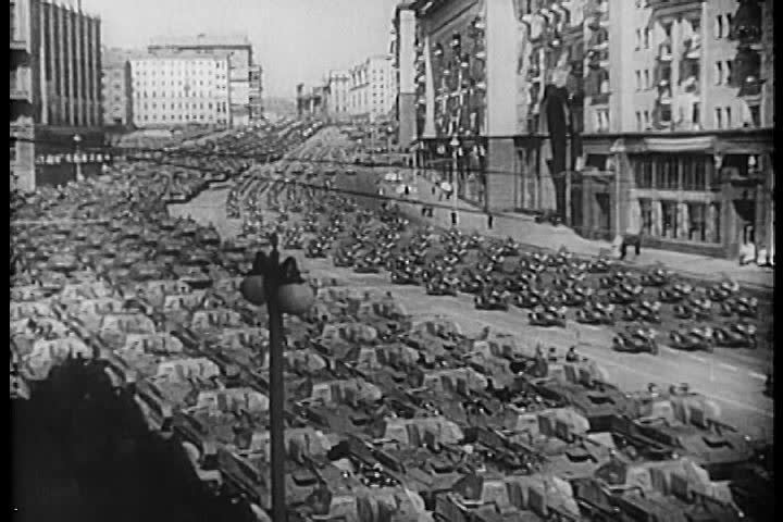 1950s - The Soviet Union rises following World War II. Good footage of Stalin.