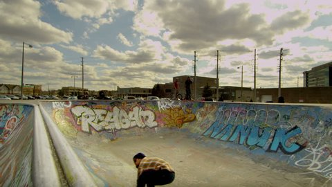 Extreme Sports HDR Video of Skateboarder