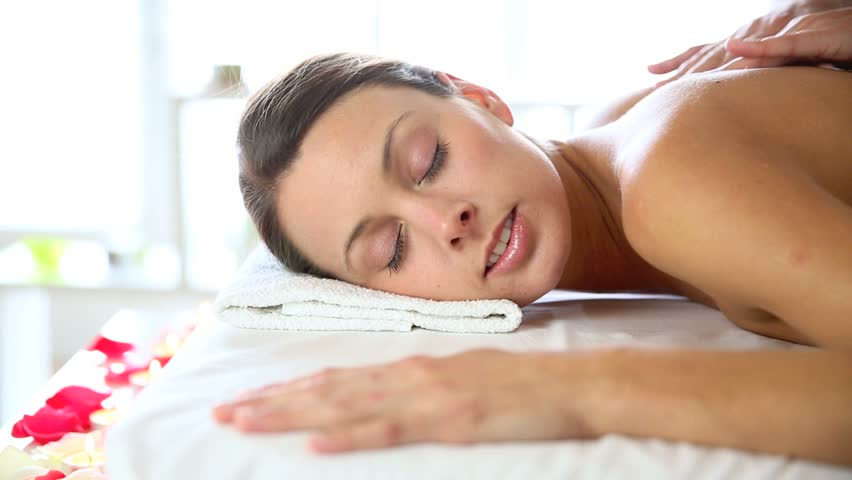 Beautiful Woman Receiving Body Massage Stock Footage Video ...