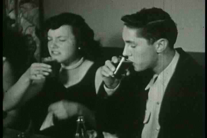 1950s - Underage boys and girls drink and drive.
