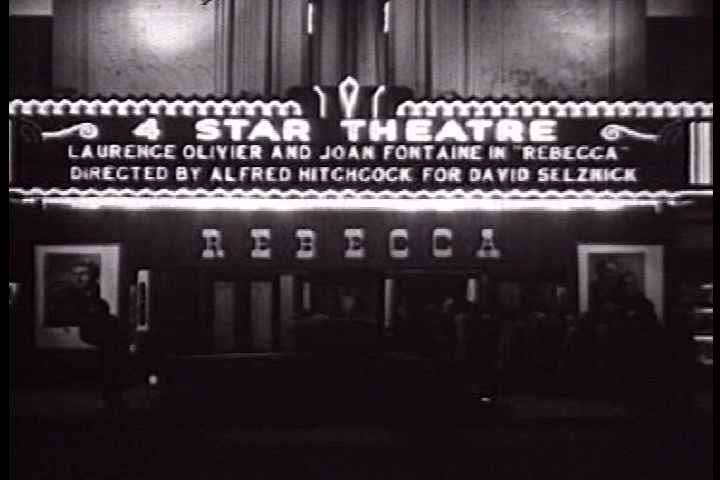1940s - Hollywood marquees and location shooting circa 1940.