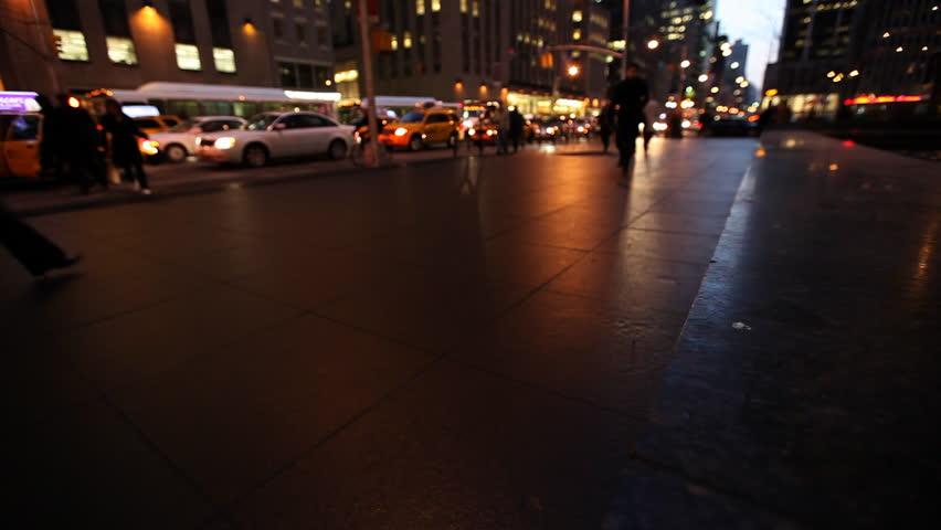 New York City traffic in Downtown, Manhattan at dusk / HD1080 / 29.97fps  | Shutterstock HD Video #401236