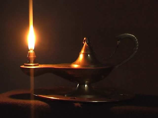 Old Antique Magic Lamp Burning Stock Footage Video 4037716 ...