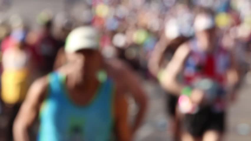 Runners defocused   | Shutterstock HD Video #4043986