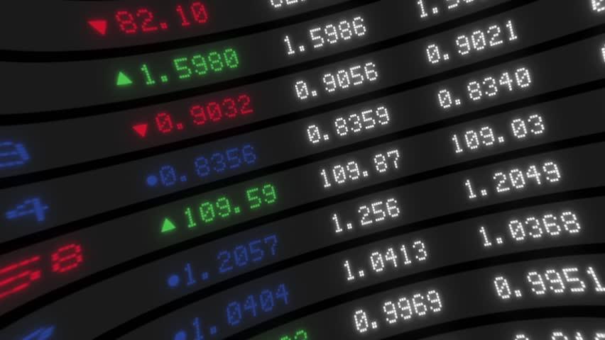 Stock Exchange HD 1080, Display of Stock Exchange Tickers Board | Shutterstock HD Video #4056961