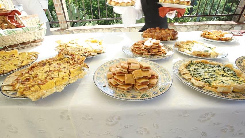 wedding buffet in italian restaurant