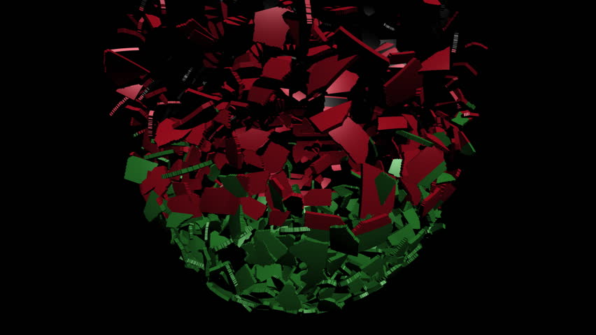 Malawi flag sphere converging animation
