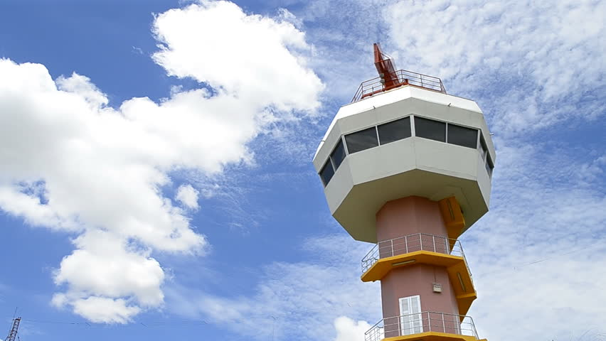 radar tower communication and nice sky
