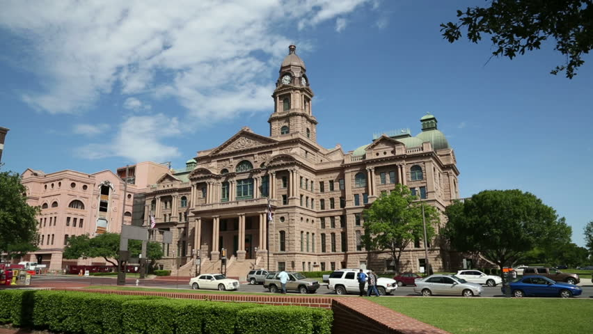FORT WORTH, TEXAS/USA - MAY 09: Tarrant County Court House on May 09, 2013 in Fort Worth. It was built in 1895 of pink Texas granite.
