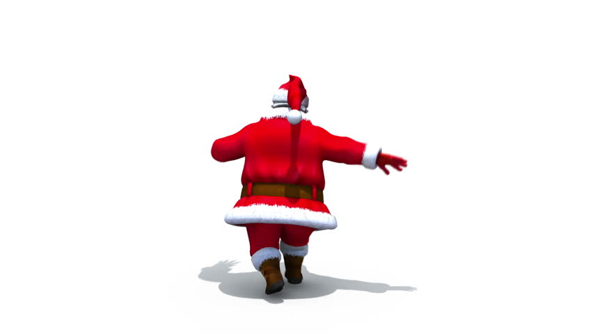 Santa clicks heels - loop - alpha matte