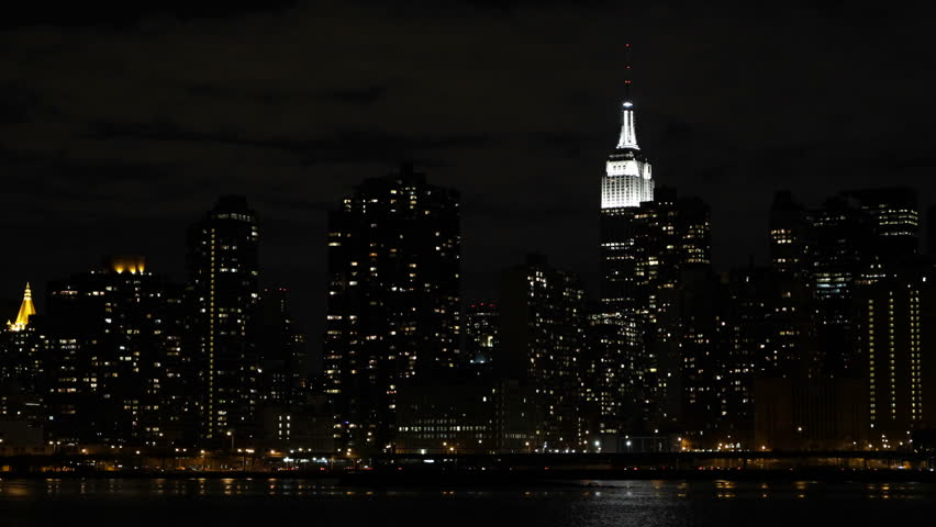 Illuminated Empire State Building, Nyc Stock Footage Video (100%  Royalty-free) 4100656 | Shutterstock