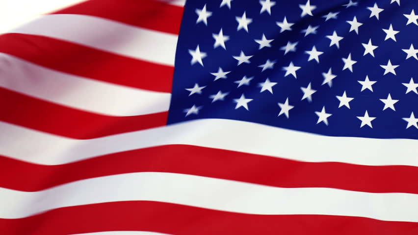 Usa Flag Waving In The Wind Hd Stock Footage Clip