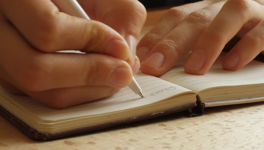 Hands writing on the paper (HD) | Shutterstock HD Video #4115932