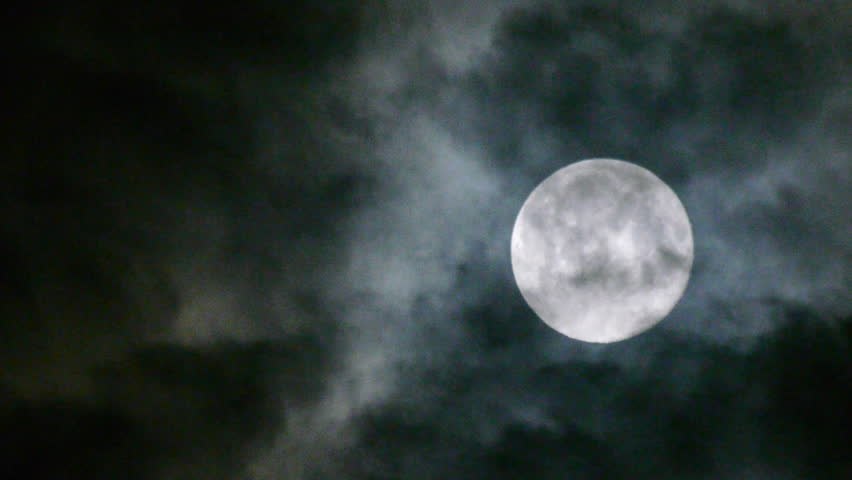 Full moon at night with cloud real no CG | Shutterstock HD Video #4133356