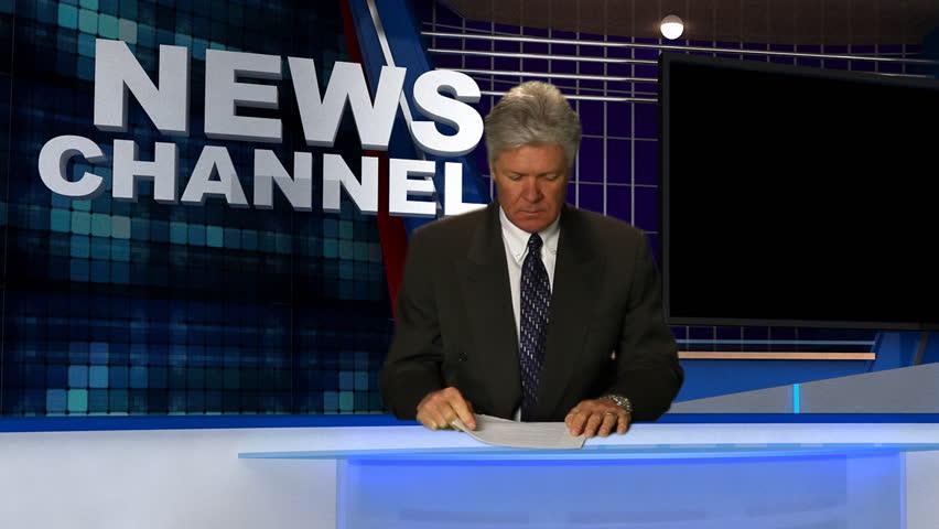 Newsman in Studio