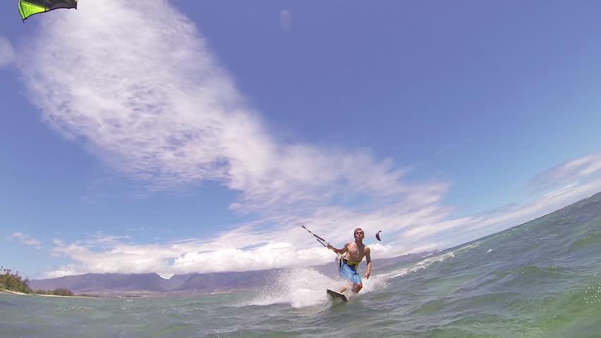 Kite Boarding, Fun in the ocean, Extreme Sport HD Video | Shutterstock HD Video #4167280