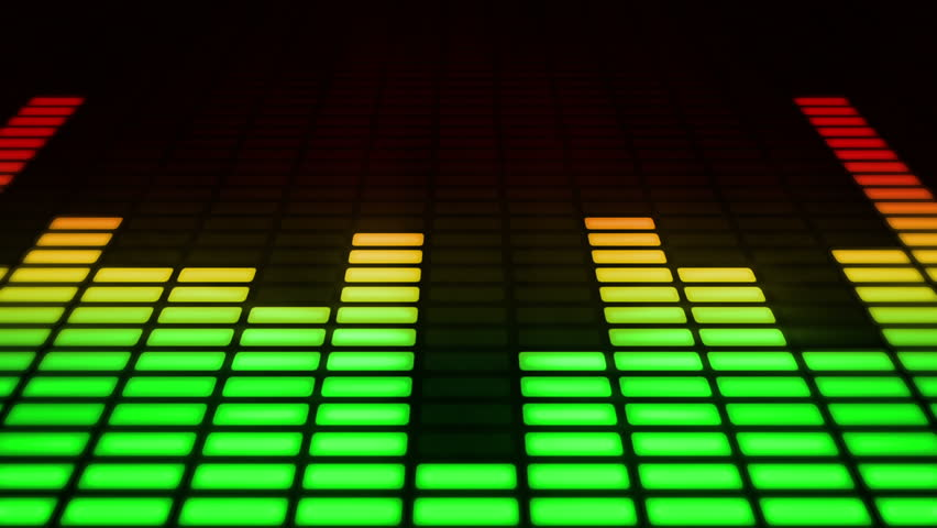 Audio equalizer moving bars. Music control levels. Loopable. Multicolored.  | Shutterstock HD Video #4179545