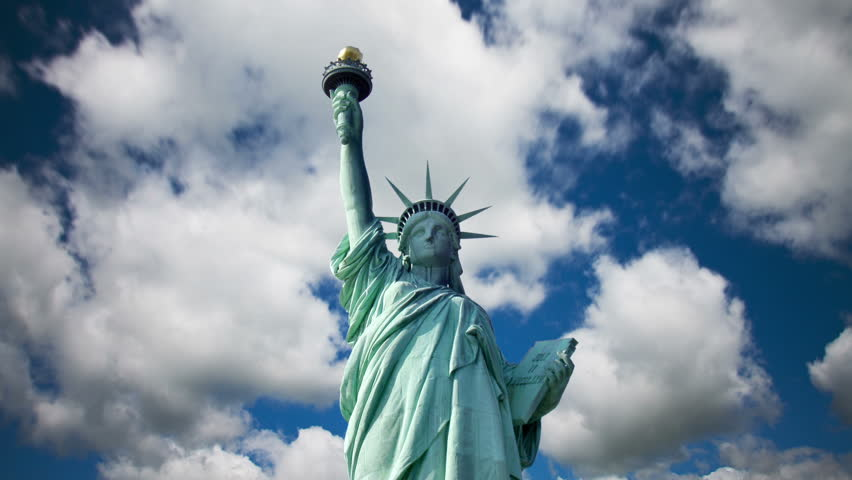 Statue of Liberty with cloud time lapse | Shutterstock HD Video #4200643