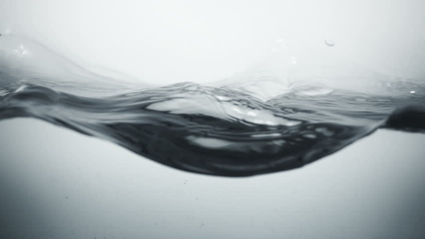Water surface splash, slow motion