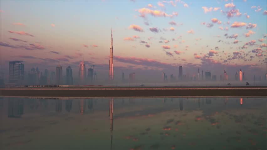 Dubai Skyline TIme lapse
