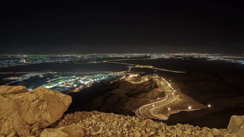 Jebel Hafeet Al Ain Time lapse