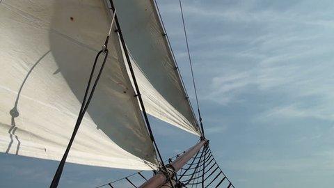 Nautical vessel - Sailboat mast - Part 1  / Nautical vessel - A sailboat mast - Pirate sail ship - Video high definition