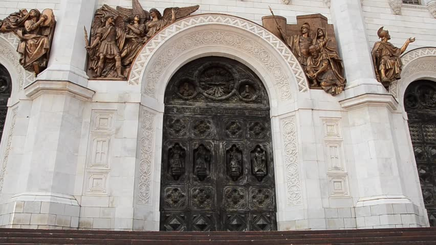 The doors of the Cathedral of Christ the Savior - HD stock video clip & Detail Of Sculptures On The West Facade Of Westminster Abbey Great ... pezcame.com