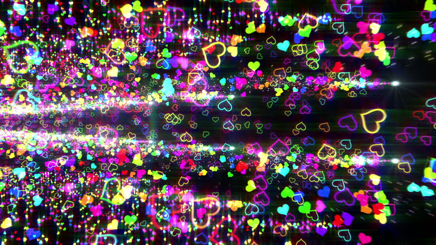 Colorful Heart Particle. | Shutterstock HD Video #4260866