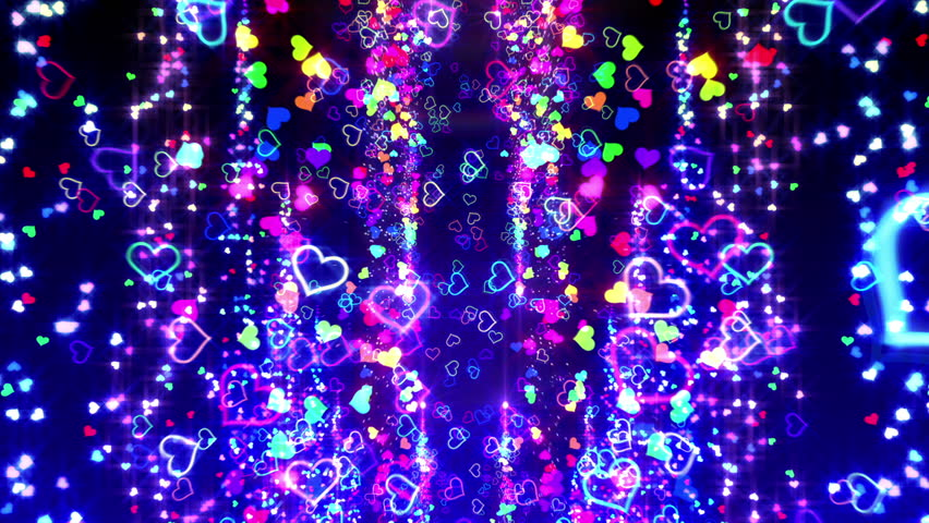 Colorful Heart Particle. | Shutterstock HD Video #4261526